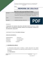 Memoria de Calculo Estructuras Astanya