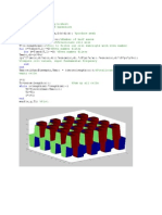 3D Fourier Series Code and Plot Matlab