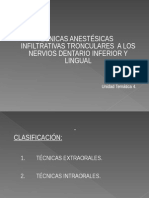 Anestesia Al Nervio Dentario Inferior y Lingual