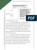 Melendres v. Arpaio - Wang Declaration On Recusal Motion - 7/10/2015