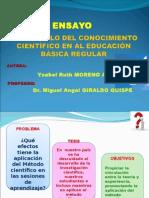 Ensayo Desarrollo Del Conocimiento Científico