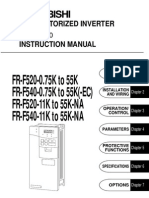 Inverter Mitsubishi FR-F500 Intruction Manual