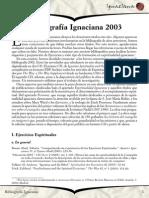 Bibliografía Ignaciana 2003 - Ignaciana