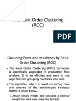 The Rank Order Clustering (ROC)