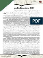 Bibliografía Ignaciana 2007 - Ignaciana