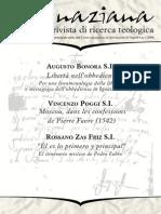 Ignaciana, Rivista Di Ricerca Teologica, 1-2006