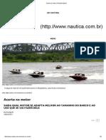 Acerte No Motor _ Revista Náutica