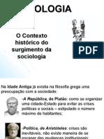 SOCIOLOGIA CONTEXTO HISTÓRICO