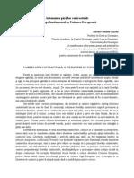 Autonomia Părților Contractuale Drept Fundamental Comun European Chiacchi