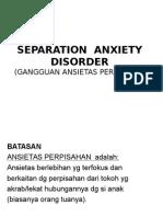 gangguan ansietas perpisahan