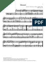 Menuet (BWV anh 115) - J. S. Bach
