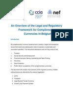 CCIA Legal Compliance Overview, Belgium