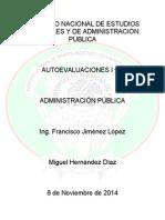 Autoevaluaciones 1 y 2 Admon Publica