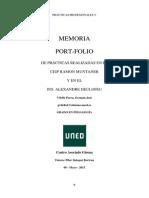 Memoria-portfolio Prácticas Profesionales v-corregido UNED Pedagogía 4º