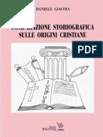 Daniele Giacoia - Comparazione storiografica sulle origini cristiane
