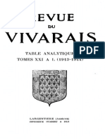 RV Table Analytiques 1913 1944