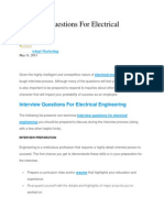 Interview Questions for Electrical Engineering