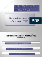 Alcohol Ordinance Presentation