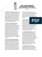 Nonprofit Governance Mistakes