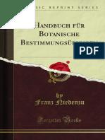 Handbuch Fur Botanische Bestimmungsubungen 1100143408