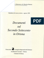Documenti Sul Secondo Settecento in Ortona