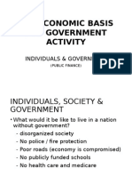 The Economic Basis for Government Activity