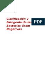 Clasificacion de Las Bacterias Gram Negativas