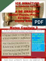 Códice Sinaítico Mateo cap 3