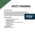 H2S Safety Training Program Information
