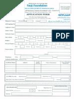 Application Form Fauji