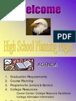 High School Planning Info