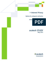 Acatech STUDY Internet Privacy WEB