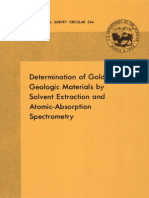 Determination of Gold in Geological Materials by Solvent Extraction and AAS