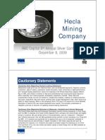 Hecla Mining Sept 2009 Presentation