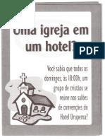 Folheto para igrejas em hotel