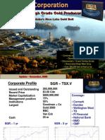 San Gold Corp Nov 2009 Presentation