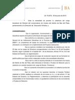 Disp 27-15 Pruebas DR Conservatorio
