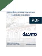FCRB Relatorio Tecnico Restauracao Das Pinturas Murais Da Casa de Rui Barbosa