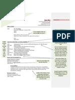 Sample Resume Set II