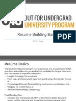 Resume Writing Basics