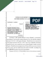 Larsen v. Dumanis et al - Document No. 5