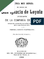 Practica en Honor de San Ignacio de Loyola