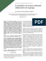 Optimizacion de Portafolios de Acciones Utilizando Los Multiplicadores de Lagrange