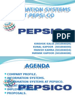 Information Systems at Pepsi Co