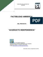 """FACTIBILIDAD AMBIENTAL DEL PROYECTO """"ACUEDUCTO INDEPENDENCIA"""""""