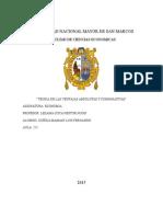 TEORIA DE LAS VENTAJAS ABSOLUTAS Y COMPARATIVAS