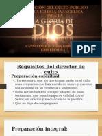 Dirección Del Culto Publico en La Iglesia Evangélica