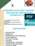 Equipo Protección Personal (EPPs)