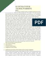 Kesepakatan Dunia Untuk Mengatasi Global Warming
