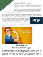 FECHAS CIVICAS MARZO